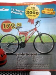 A101 26 Jant Bisiklet 13 Haziran