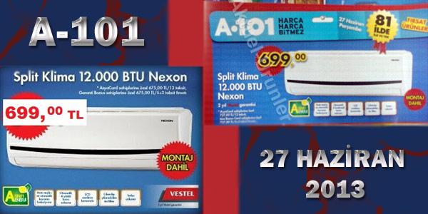 A101 27 HAZİRAN NEXON SPLİT 12000 BTU KLİMA