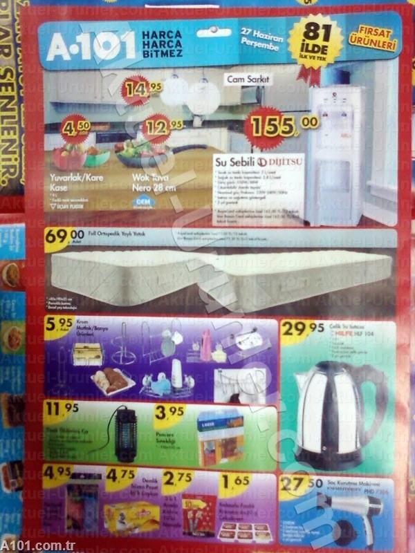 A101 27 Haziran ürünleri