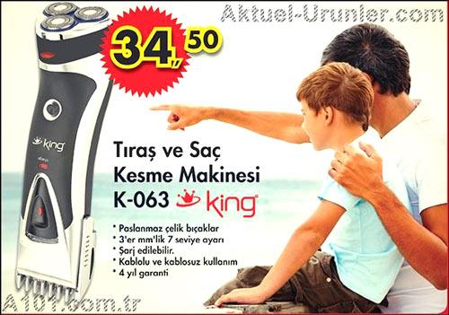 King Traş ve Saç Kesme Makinesi K-063