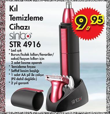 Sinbo Kıl Temizleme Cihazı A101 13 Haziran