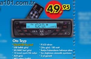 A101 20 Haziran Oto Teyp 49,95 TL