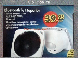 A101 18 Temmuz 2013 Bluetooth'lu Hoparlör