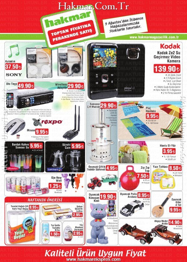 Hakmar 8 Ağustos 2013 Aktüel Katalog