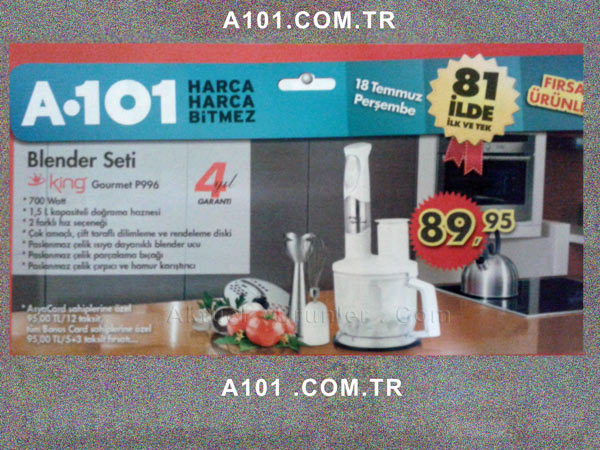 King Blender Seti Gourmet P996 A-101