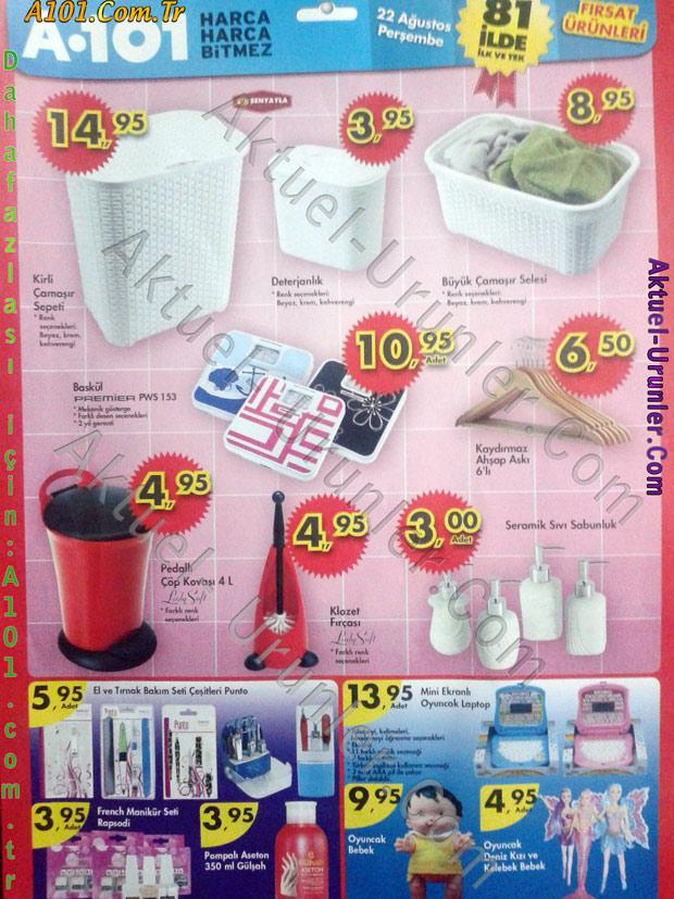 A101 22 Ağustos 2013 Aktüel Ürünleri sf2