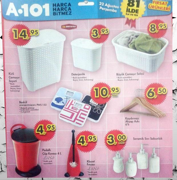 A101 22 Ağustos 2013 Banyo ve Temizlik
