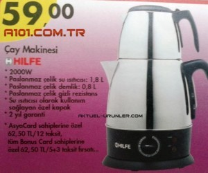A101 Aktüel 6 Ağustos Hilfe Çay Makinesi