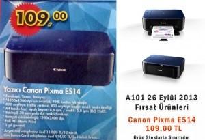 A101 26 Eylül Canon Pixma E514 Yazıcı