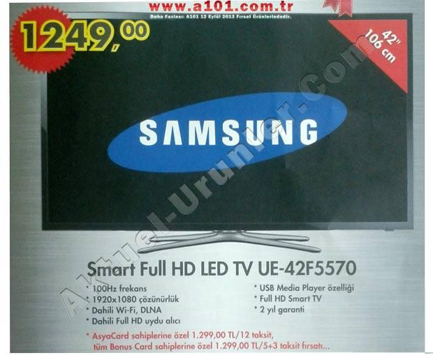 A101 Samsung Smart Full HD LED TV UE-42F5570