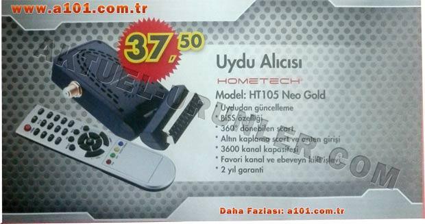 Hometech Uydu Alıcısı HT105 Neo Gold
