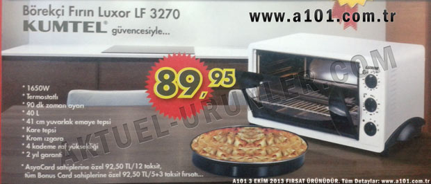 Kumtel Luxor LF 3270 Börekçi Fırın
