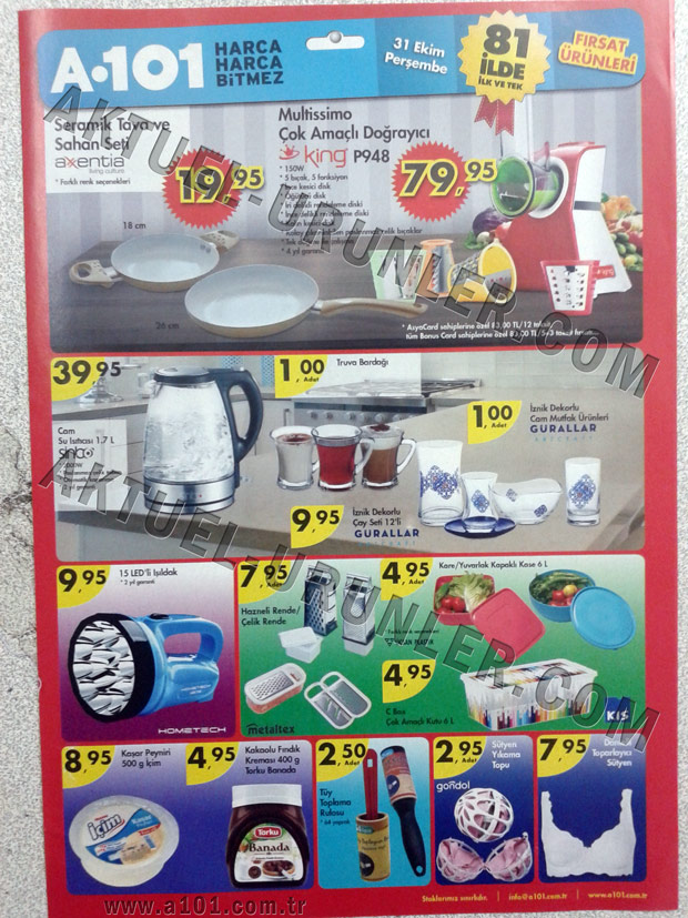 A101 31 Ekim 2013 Aktüel Ürünleri Sayfa 1