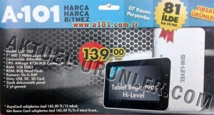 Hi-LEVEL HLV T704 Tablet A101 7 Kasım 2013