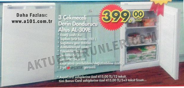 Altus AL-309E 3 Çekmeceli Derin Dondurucu