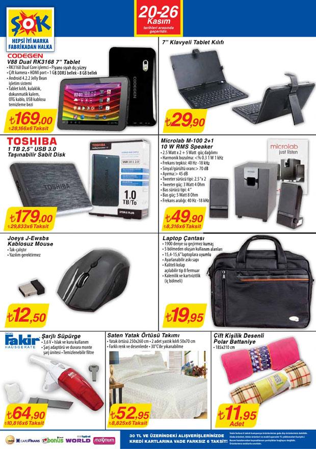 Şok Market 20 Kasım 2013 Aktüel Katalogu 1