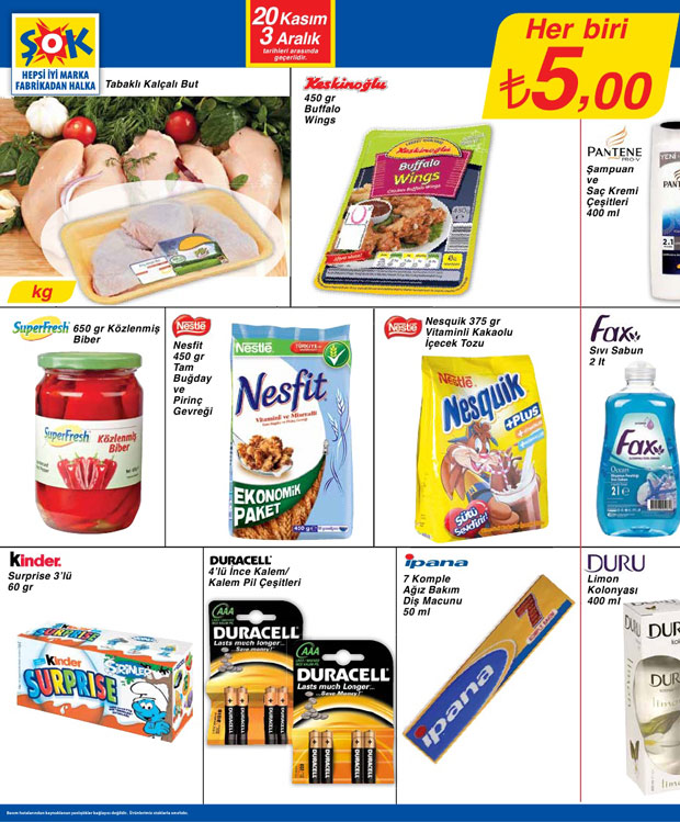 Şok Market 20 Kasım 2013 Aktüel Katalogu 7