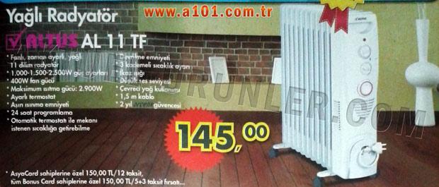 Altus AL 11 TF Yagli Radyator A101 Aktuel