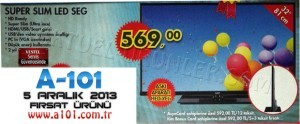 A101 Super Slim LED SEG TV 5 Aralık 2013