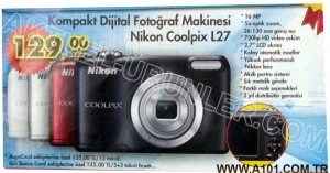 A101 Nikon Coolpix L27 Fotoğraf Makinesi
