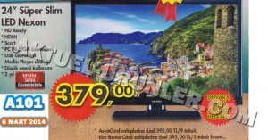 "A101 Nexon 24"" Süper Slim LED TV Monitör"