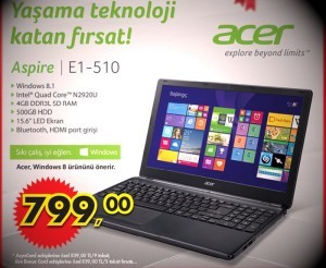 A101 ACER Aspire E1-510 Notebook İncelemesi