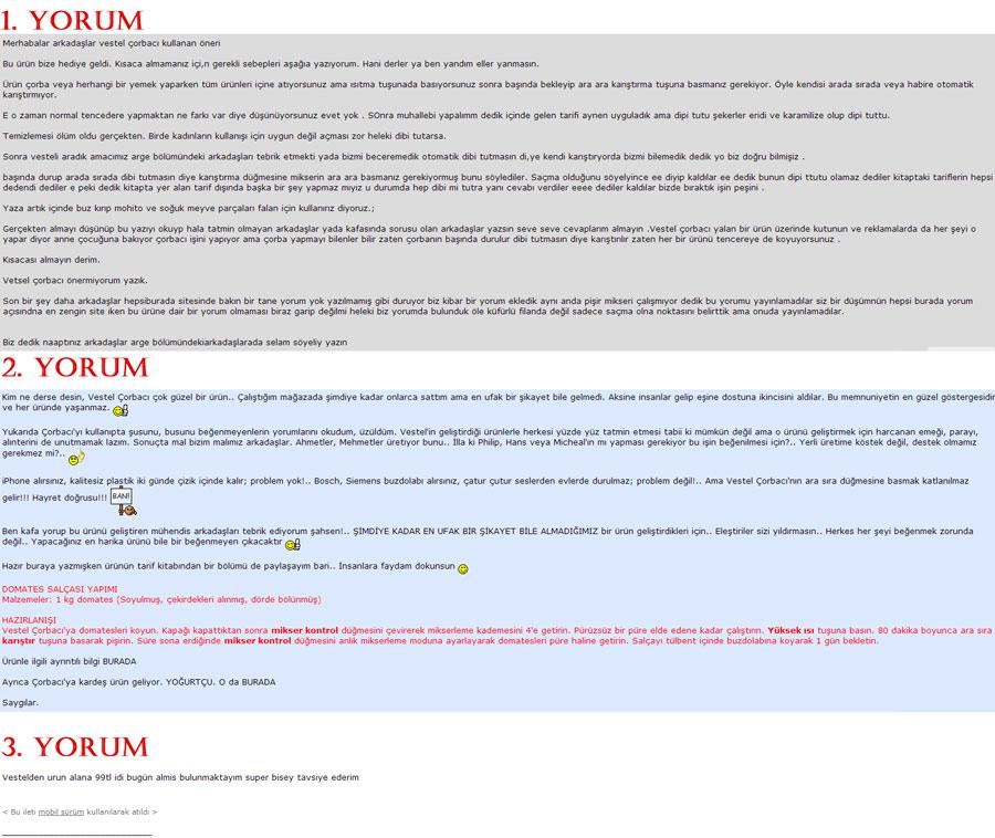 Vestel-Çorbacım-Önerileri-ve-Kullanıcı-Yorumları