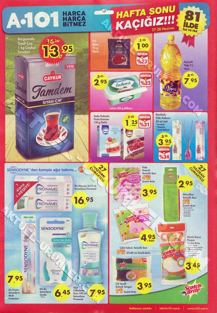 A101 27 Haziran 2015 Aktüel Ürünler Kataloğu Haftasonu Kaçığız 2