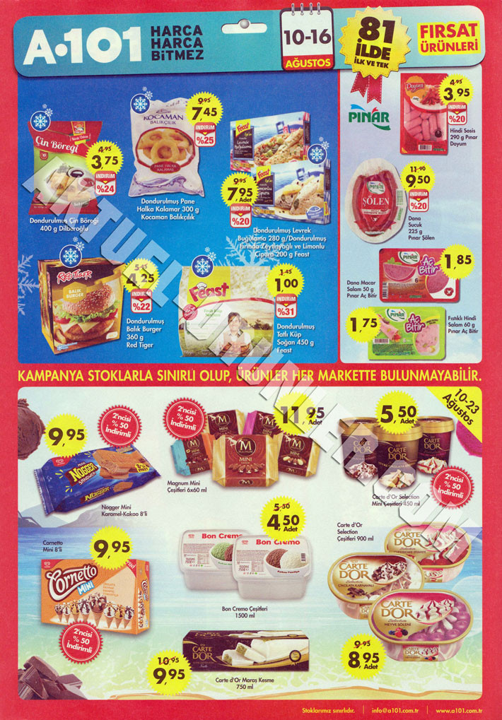 A101 13 Ağustos Aktüel ürün Katalogu Dondurma 2