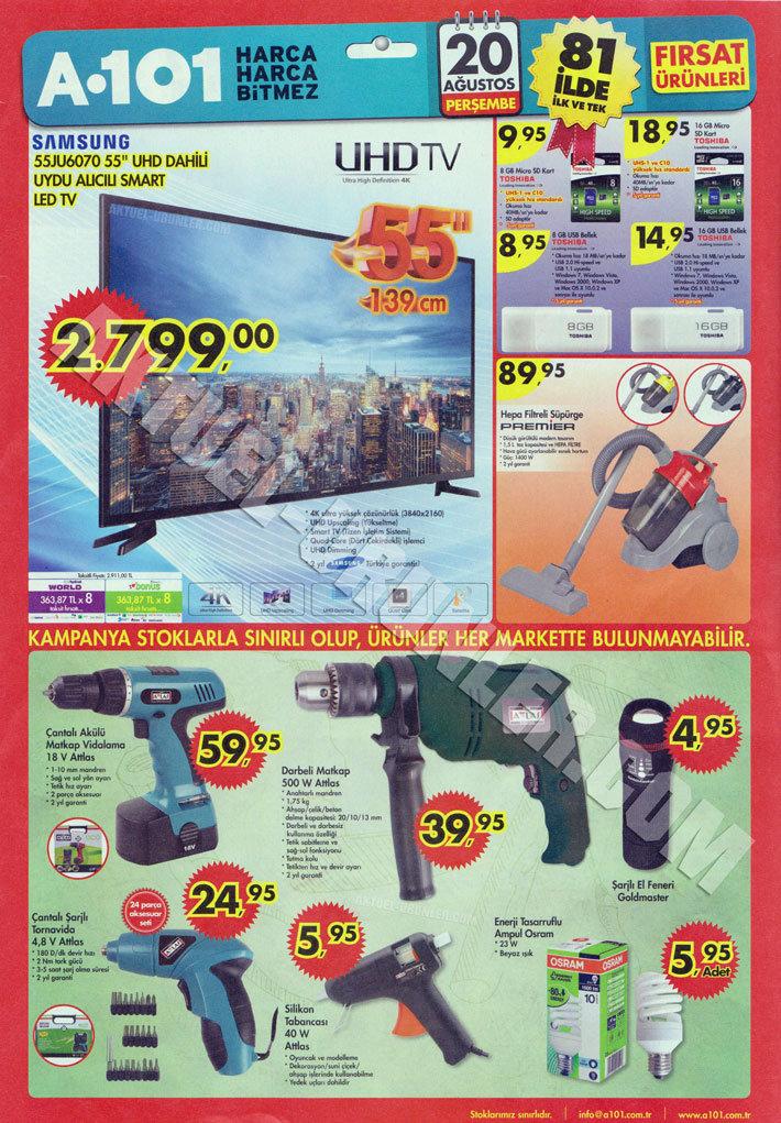 A101 20 Ağustos Aktüel Ürün Katalogu 55JU6070 1