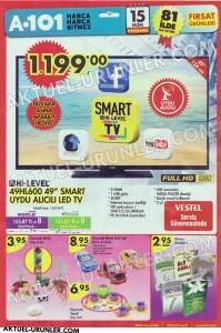 A101 15 Ekim Aktüel Ürünleri 49HL600 TV