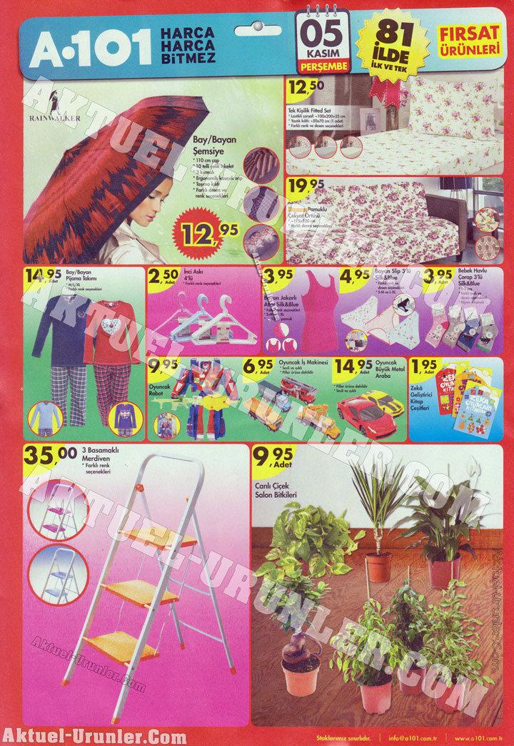 A101 5 Kasım 2015 Aktüel Kataloğu 3 | Tekstil Ürünleri