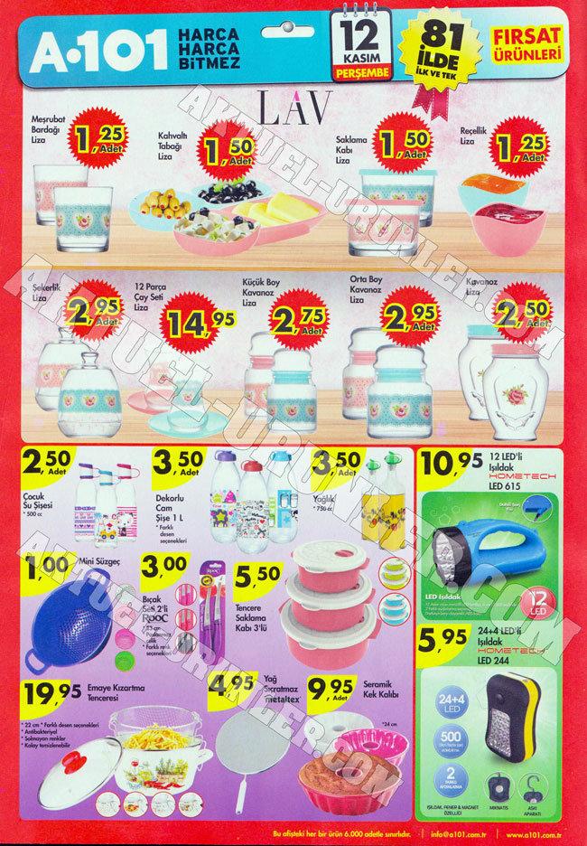 A101 12 Kasım Aktüel Ürünleri Lav – Mutfak Ürünleri