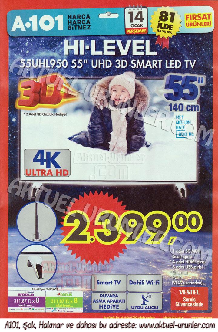 A101 14 Ocak Hi-Level 55UHL950 4K TV – A101 Aktüel