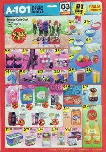A101 3 Mart Canlı Çiçek ve Gıda Aktüel Ürünleri