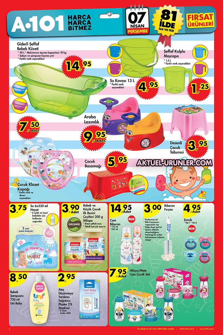 A101 7 Nisan Plastik Bebek Aktüel Ürünleri