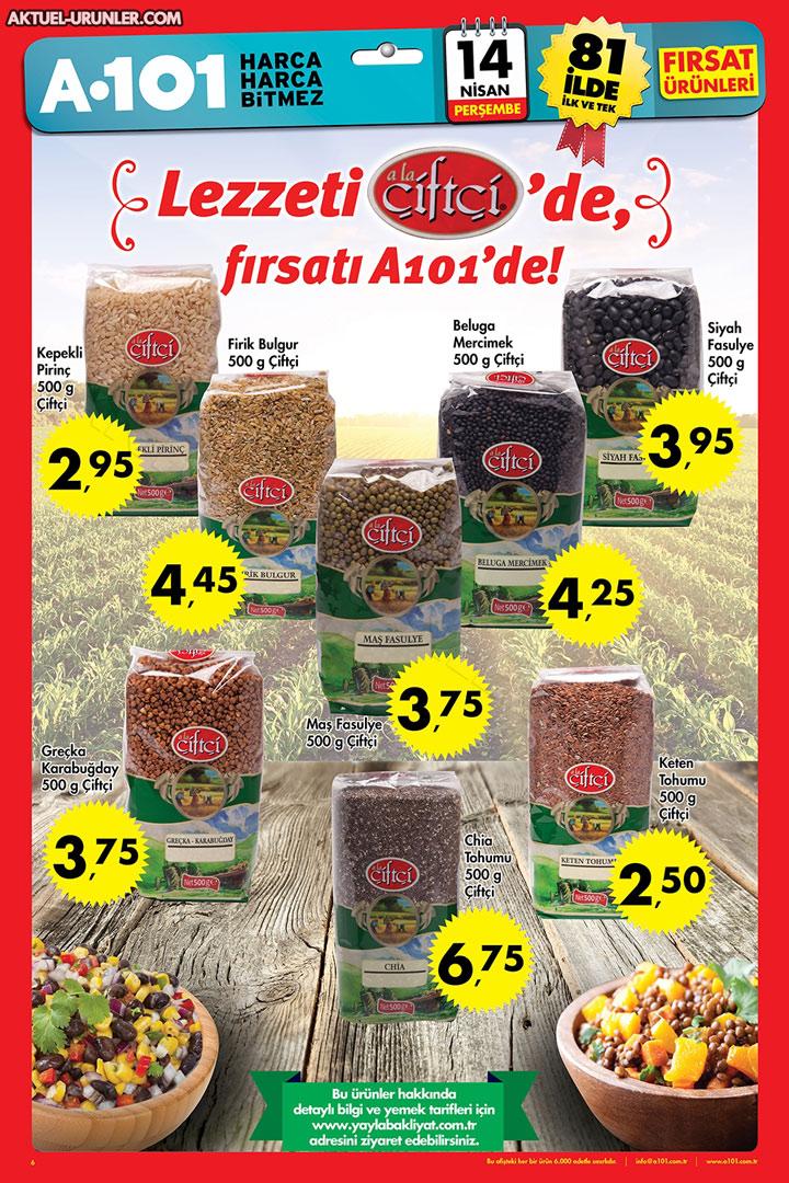 A101 14 Nisan Çiftçi Markalı Aktüel Ürünler