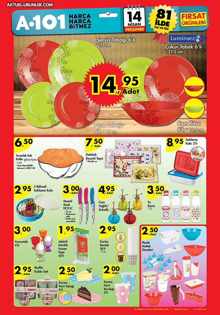 A101 14 Nisan Son Sayfa Aktüel Ürünleri
