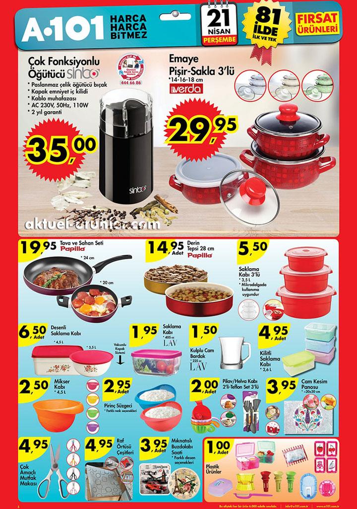 A101 21 Nisan Üçüncü Aktüel Ürünler Sayfası