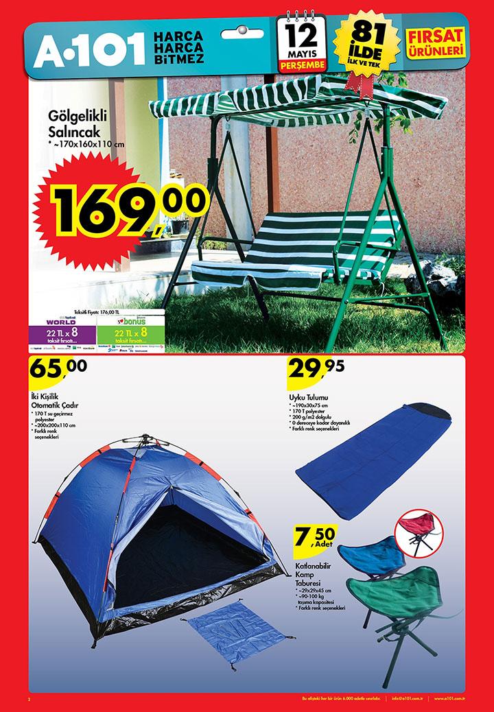A101 12 Mayıs Bahçe Ve Kamp Aktüel ürünleri