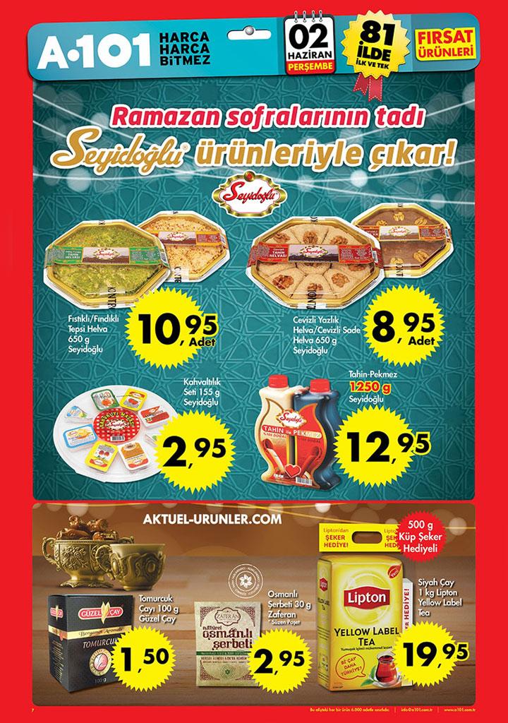 A101 2 Haziran Ramazan Gıda Aktüel Ürünleri