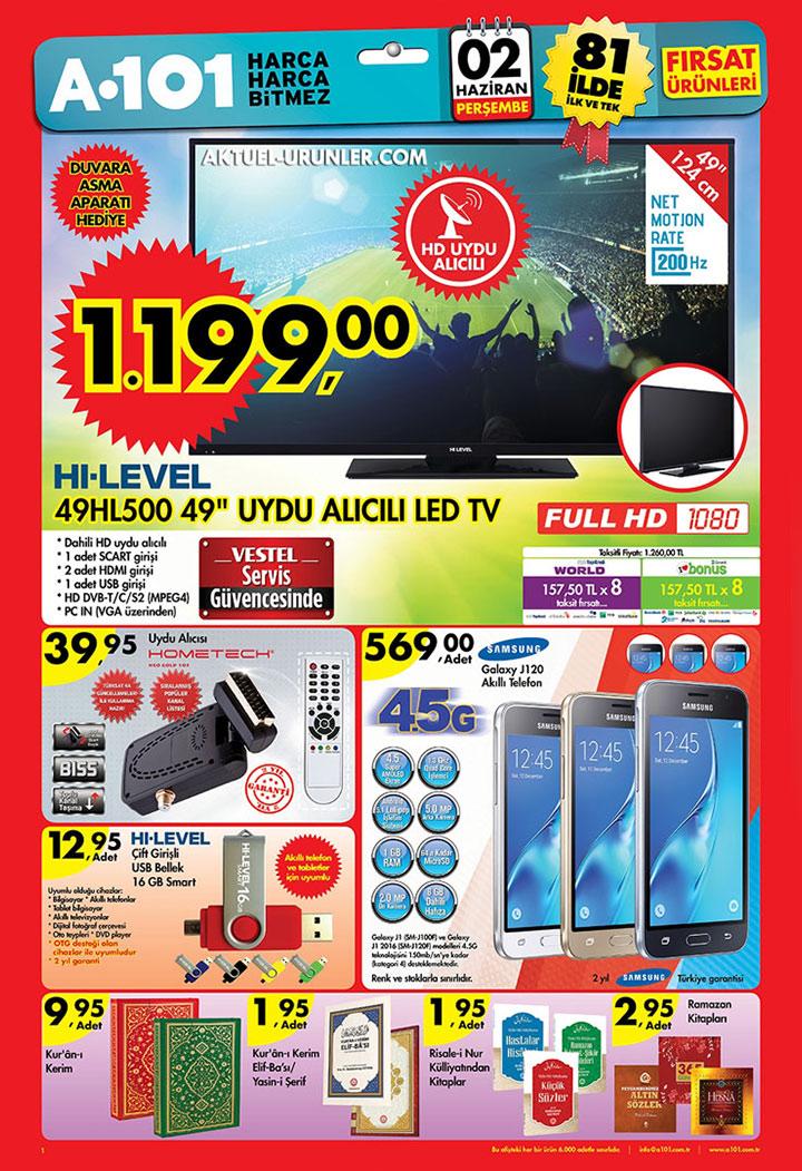 A101 2 Haziran TV ve Plastik Bahçe Ürünleri