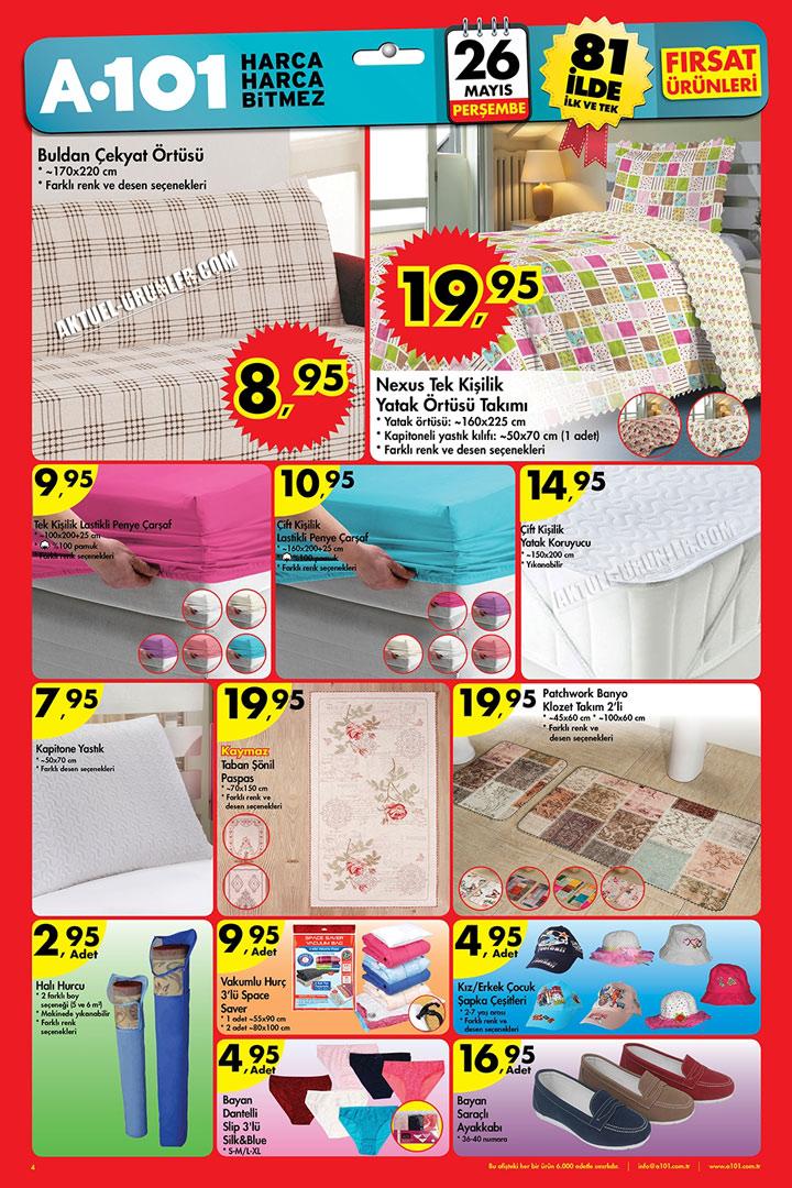 A101 26 Mayıs Örtüler ve Ev Tekstili Aktüel Ürün Sayfası