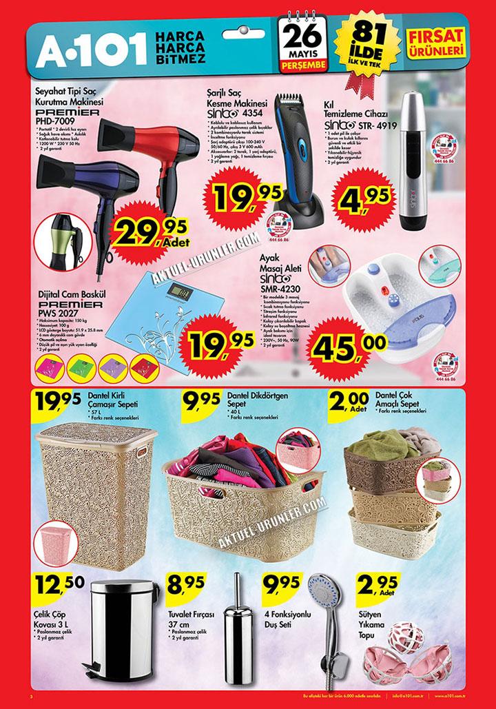 A101 26 Mayıs Banyo Ürünleri ve Kişisel Temizlik Aktüel
