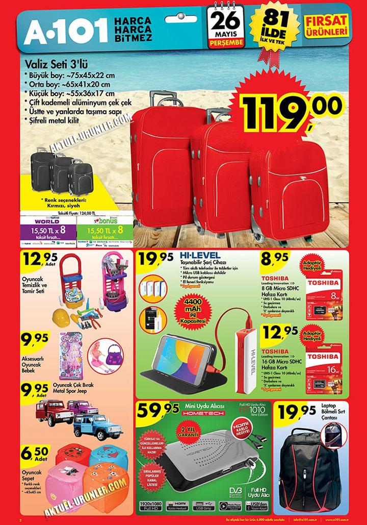 A101 26 Mayıs Valiz ve Elektronik Aktüel Ürün Sayfası
