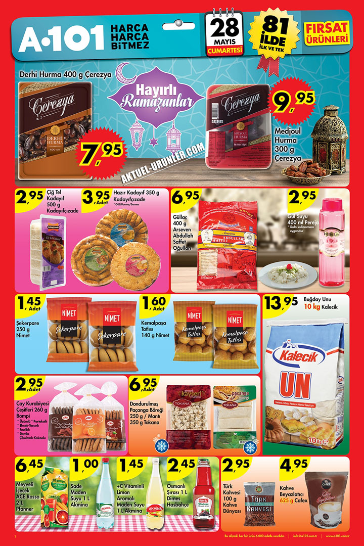 A101 28 Mayıs 2016 Aktüel Ürünler Hafta Sonu