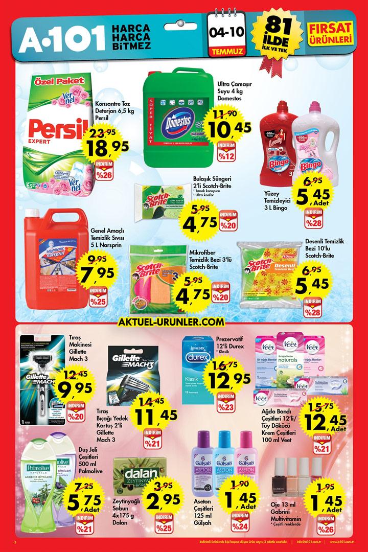 A101 04 Temmuz – 10 Temmuz Aktüel Temizlik Sayfası