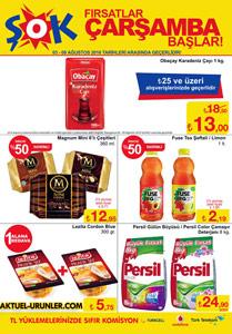 ŞOK 3 Ağustos Aktüel - İndirimli Ürünler Sayfası