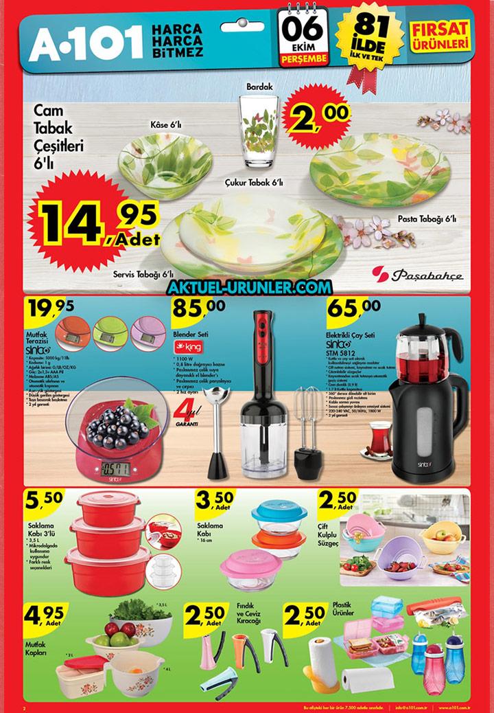 A101 6 Ekim Aktüel Ürünleri – Mutfak Ürünleri