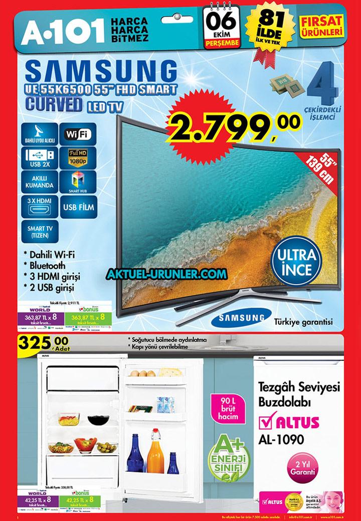 A101 6 Ekim Aktüel Kataloğu – Samsung Curved TV